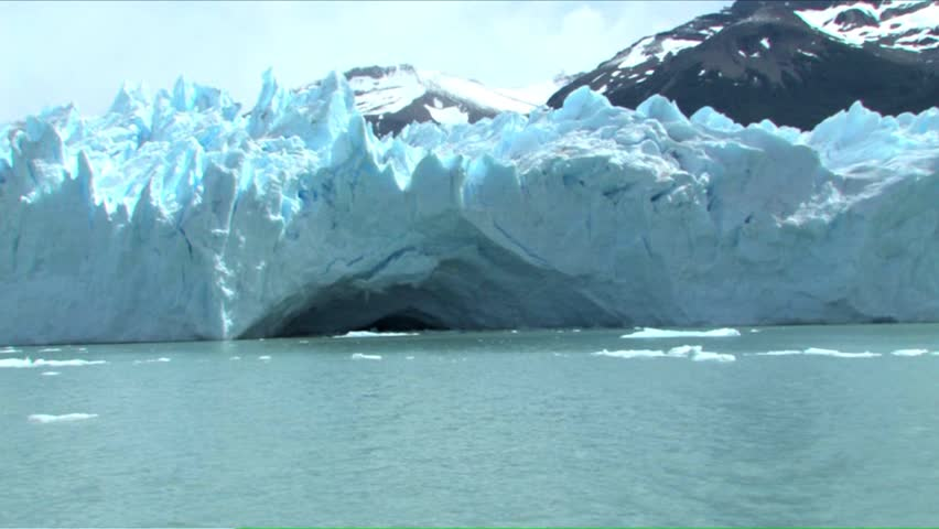 The Perito Moreno Glacier calving in Patagonia, Argentina.  | Shutterstock HD Video #4153945