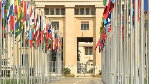 UN headquarter entrance in Geneva. Find similar clips in our portfolio.
