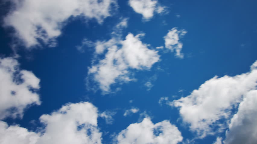 Clouds on a blue sky, time lapse | Shutterstock HD Video #4170463