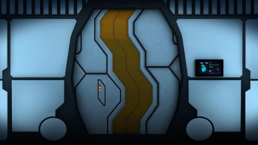Never ending sci-fi styled corridor.