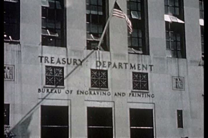 1940s - Legitimate U.S. currency is printed at the Treasury Department during the 1940s