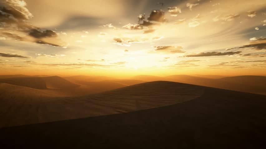 desert sunset flight
