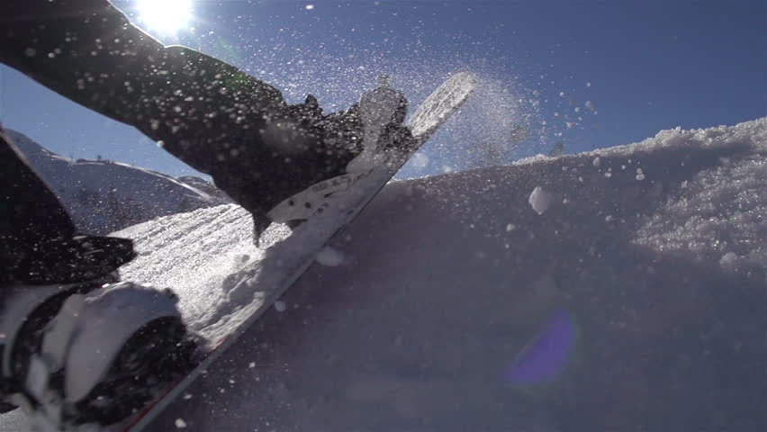 SLOW MOTION: Snowboarding jumping on a kicker | Shutterstock Video #4318736