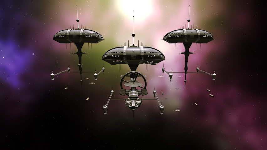 Armada space fleet on a space mission