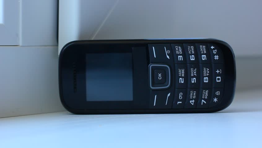 mobile phone receiving incoming call