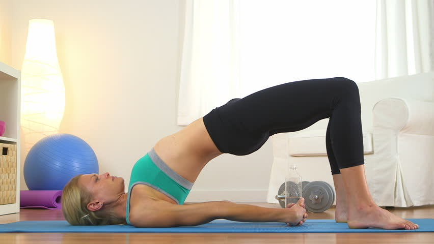 Healthy woman doing core exercises
