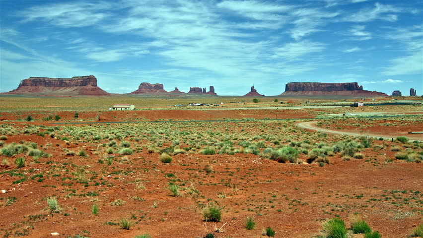 Monument Valley panorama, time lapse