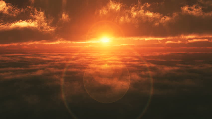 sunset air plane fly