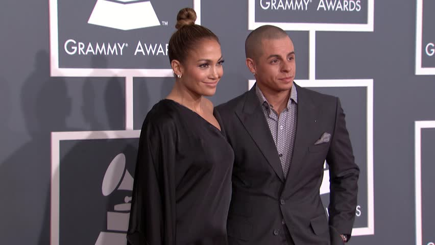 LOS ANGELES - February 10, 2013: Jennifer Lopez and Casper Smart at the Grammy Awards 2013 in the Staples Center in Los Angeles February 10, 2013