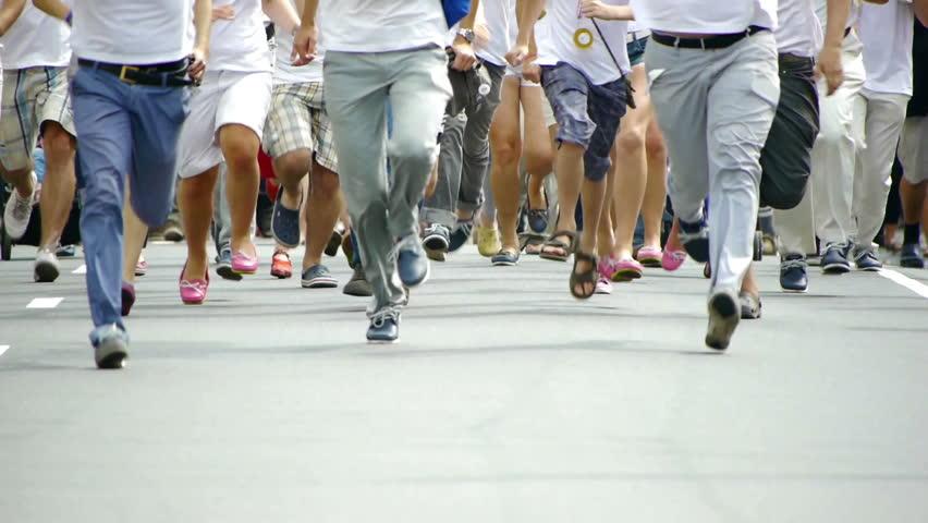 HD - People run in the summer | Shutterstock HD Video #4450493