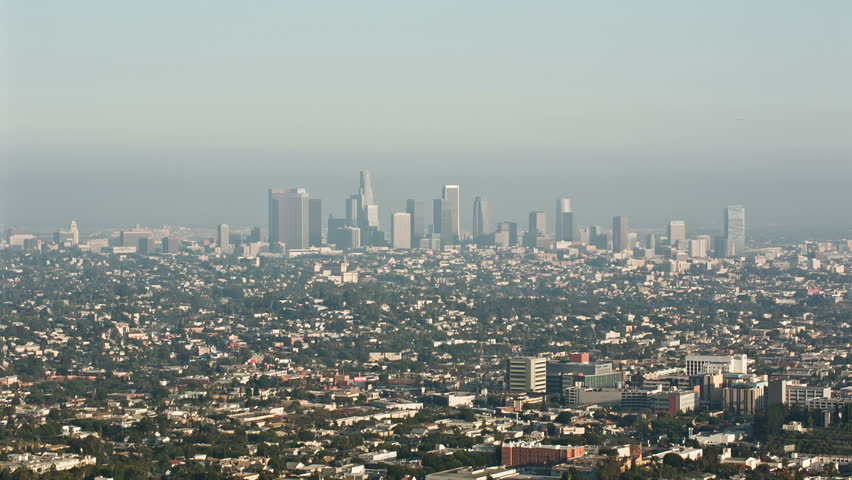 LOS ANGELES - AUGUST 15: view of Los Angeles from Griffith Observatory on August 15, 2013 in Los Angeles. Griffith Observatory is a facility on Mount Hollywood in Los Angeles' Griffith Park.   Shutterstock HD Video #4458203