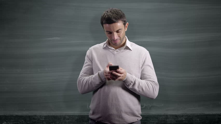 Woman looking up at blackboard and message 'Target your customers' | Shutterstock HD Video #4480403