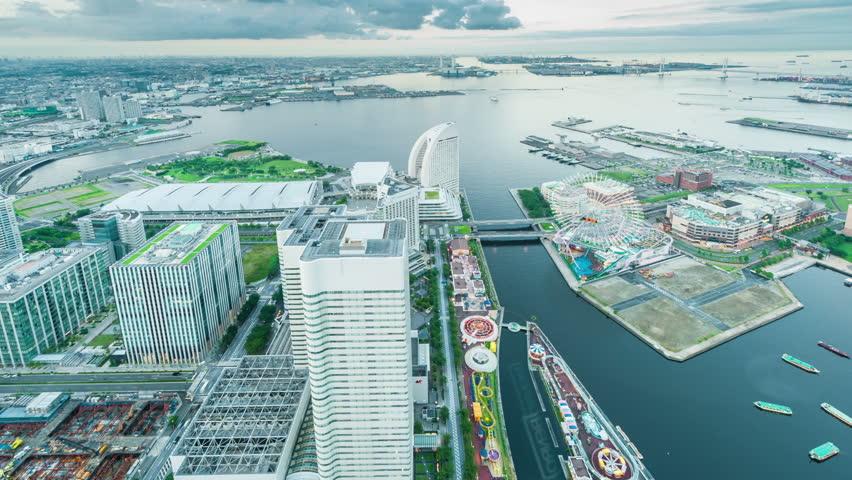 Timelapse view of Yokohama bay
