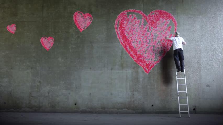 Graffiti Artist Expressing Himself By Stockvideos Filmmaterial