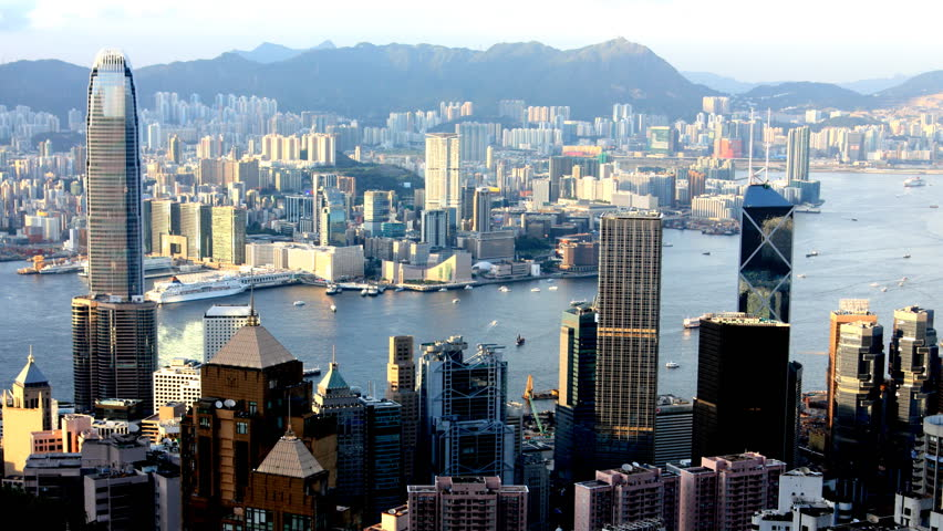 Hong Kong Day To Night Time Lapse  Cityscape From Victoria Peak   Shutterstock HD Video #4510523