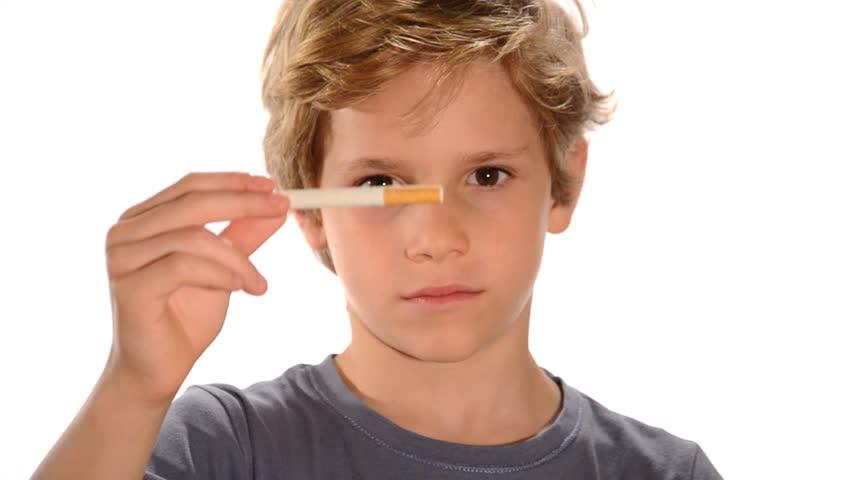 child in anti-smoking video