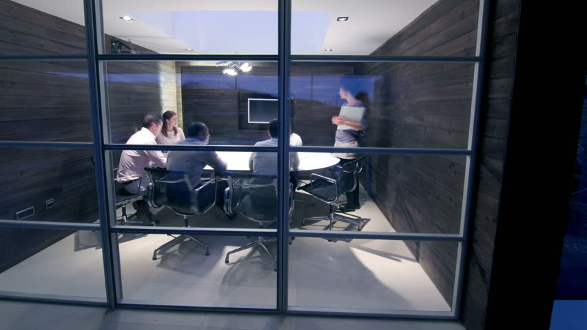 Time lapse of contemporary small creative business working late through the night.  Casual young people in architecture company. | Shutterstock HD Video #4521917