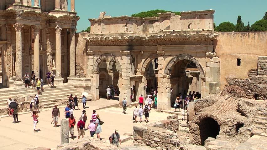 Celsus Library in Ephesus (Efes) - ancient Greek city in present day Izmir,