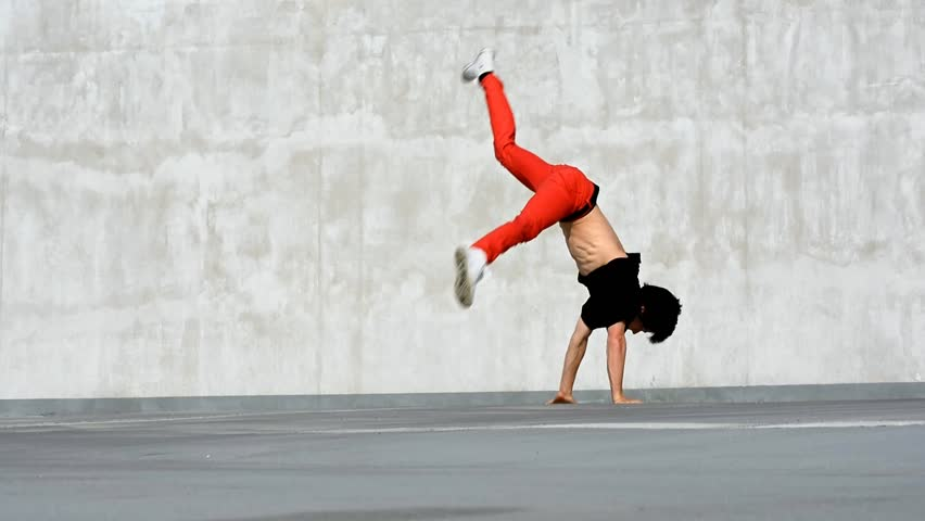 Breakdancer in the parking, best breakdancer in the Czech Republic