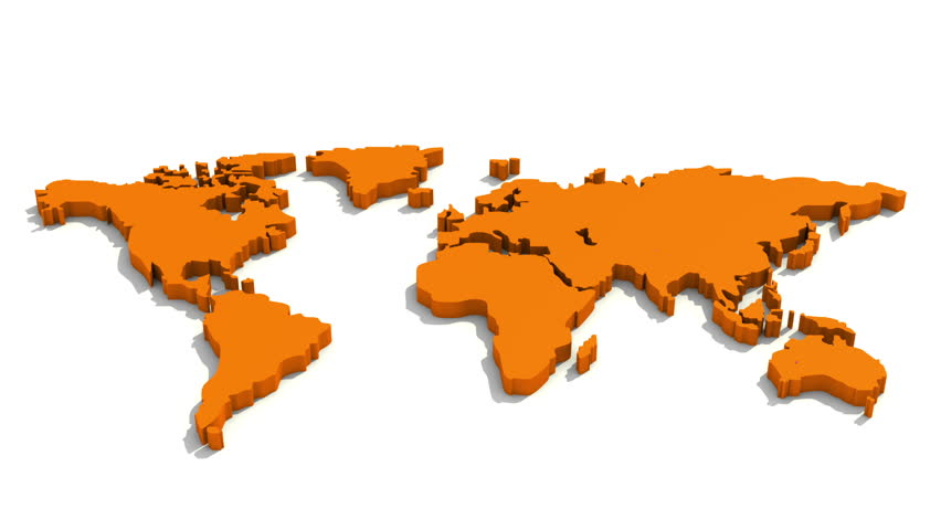 People of the world thousands of people formed the world map crowd global network information flowing around the three dimensional world map hd stock video gumiabroncs Gallery