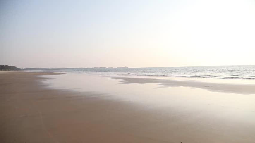 top view on GOA beach