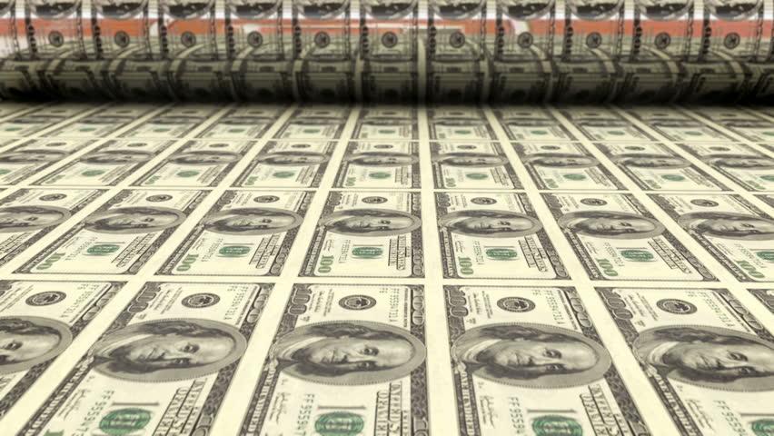 Printing one hundred dollar bills | Shutterstock HD Video #4579523