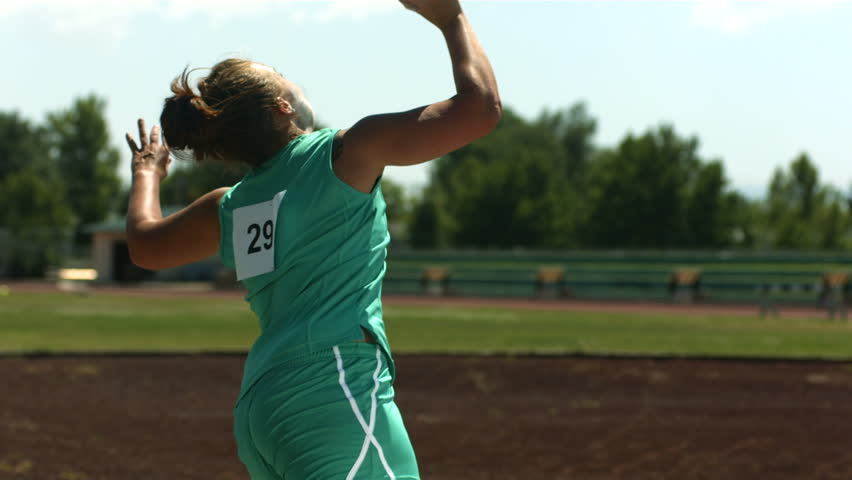 Track and Field athlete doing shot-put, slow motion | Shutterstock HD Video #4583663