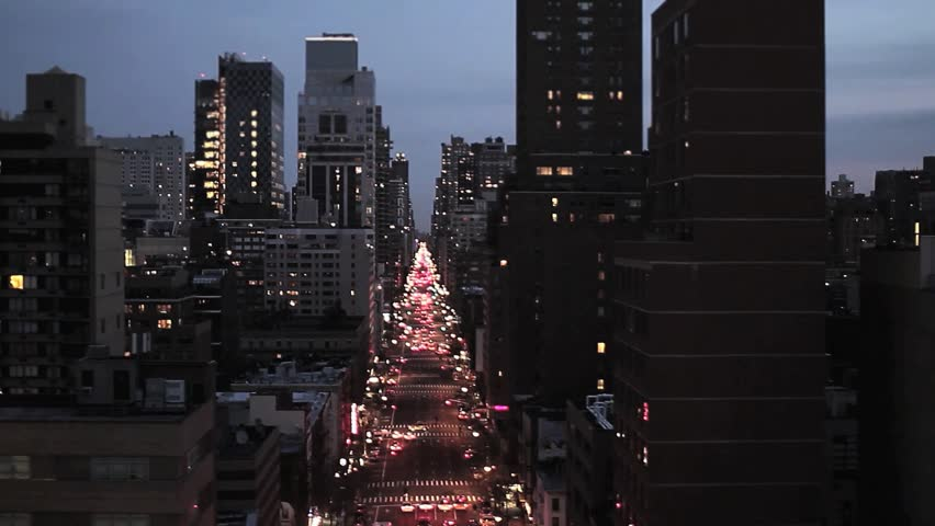 Skyline of new york city. city at night. aerial view. big city. transportation. traffic. 1920x1080 | Shutterstock HD Video #4587290