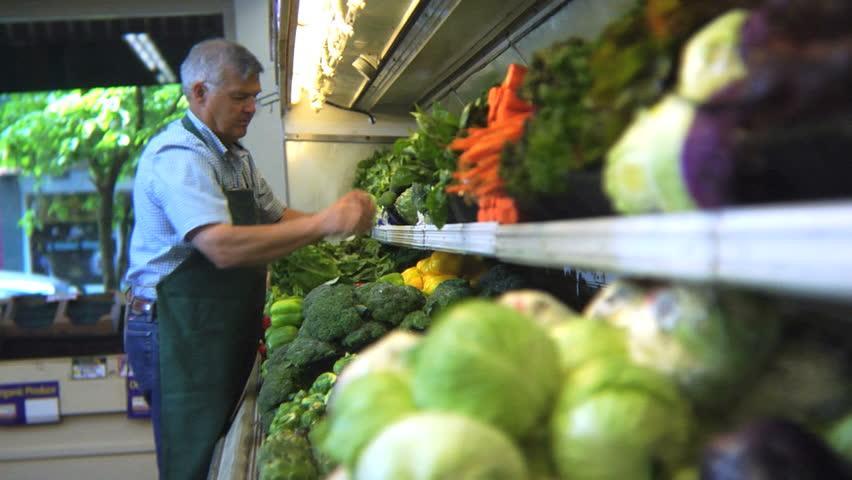 Header of grocer