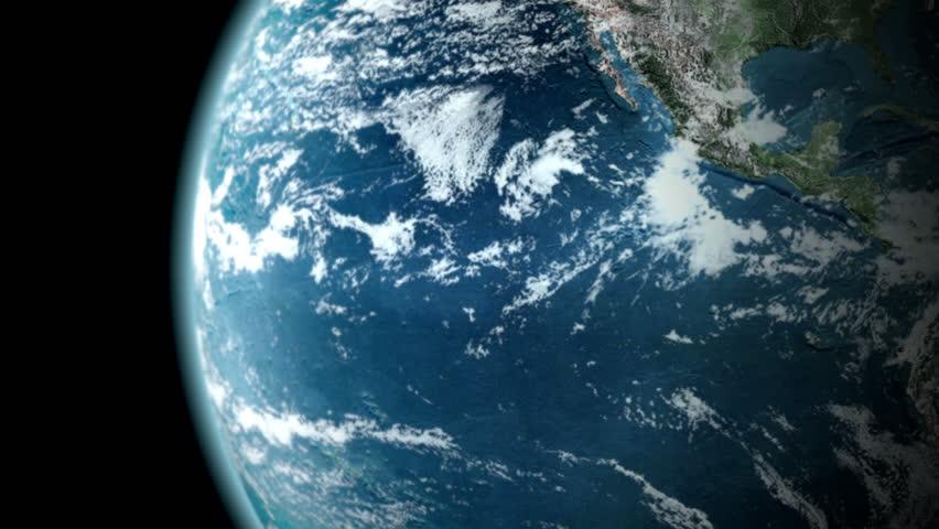 Earth Rotating (seamless loop)