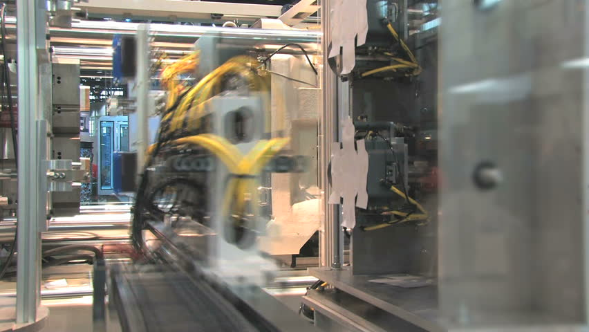 Automated machinery from a factory