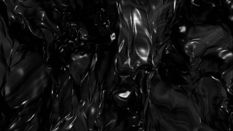 Abstract Black Fluid Background