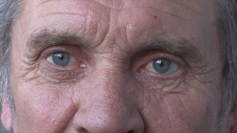close-up of an elderly man