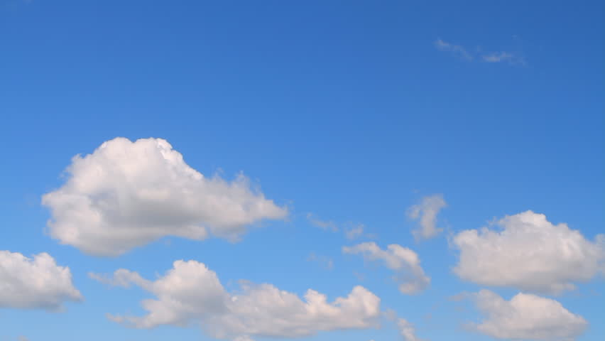 photographing the sky with cumulus clouds flying on a sunny day with strong wind #4640663