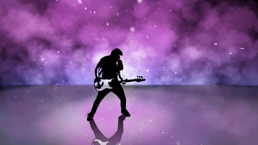 High Contrast Composite of a rock guitar player. #4645313