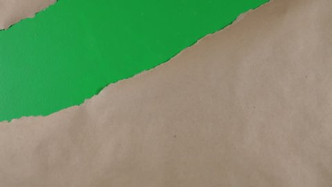 Ripping paper greenscreen