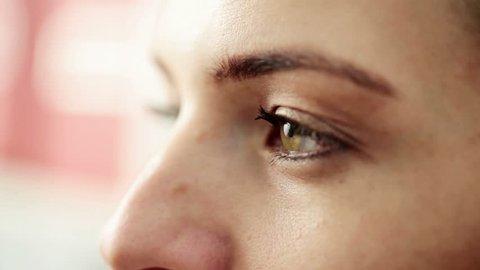 Closeup shot of female eye