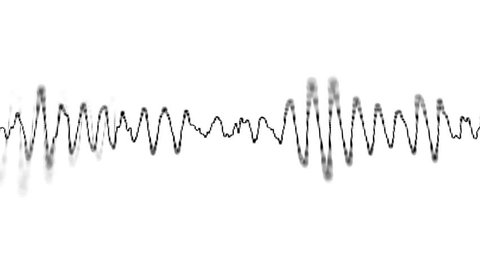 Loopable video 1920x1080 - Graphical display of sound waves on the electronic screen