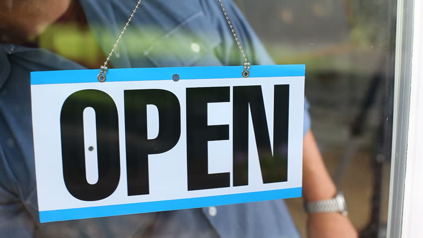 Open Sign Stock Footage Video
