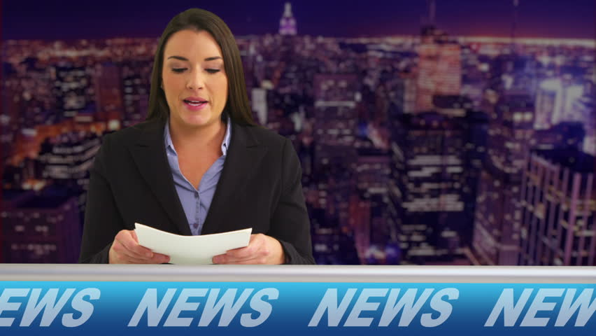 News reporter talking in studio | Shutterstock HD Video #4693313