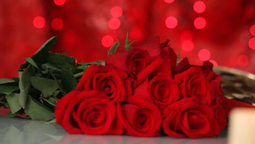 Valentines Day Chocolates Roses And Stock Footage Video 100