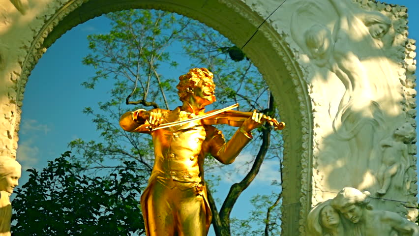 The gilded bronze monument of Johann Strauss, is one of the most known and most frequently photographed monuments in Vienna.The Stadtpark is the park with the largest number of monuments from Vienna.