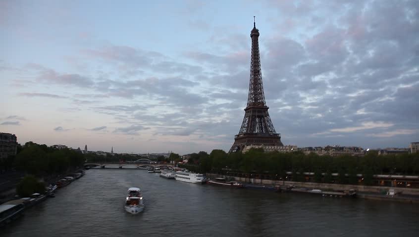 Paris France skyline in motion | Shutterstock HD Video #4720016