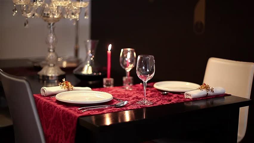 Romantic dinner couple stock footage video shutterstock - Table setting for dinner date ...
