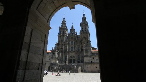 Santiago cathedral and arch