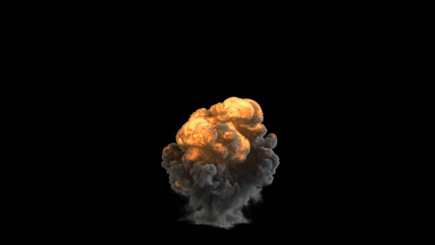 Explosion with alpha channel | Shutterstock HD Video #4744523