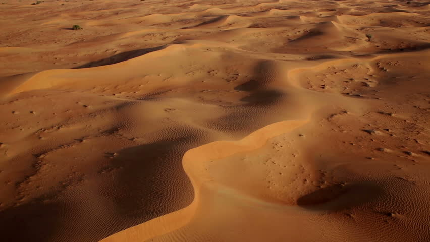 Flying Over Sand Dunes Aerial Arabian Dessert Dubai Uae Stock Footage Video 4750601