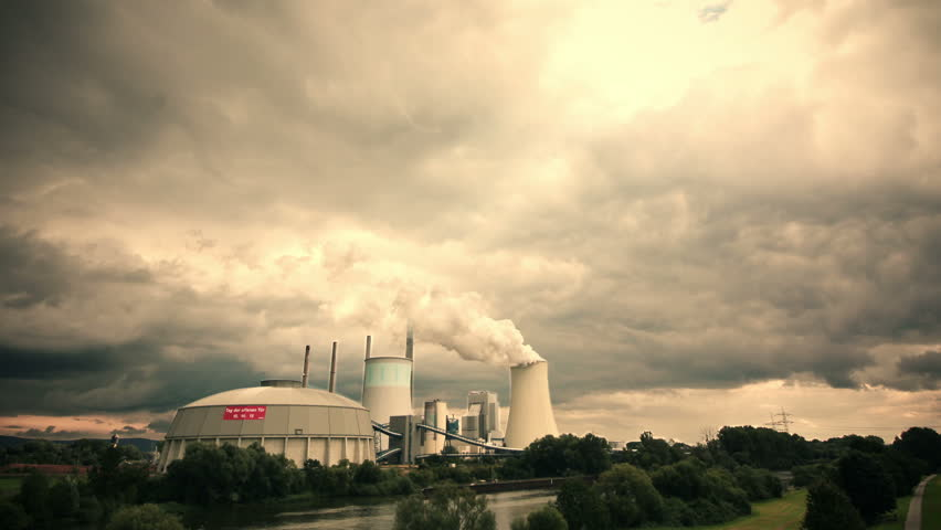 Power plant in time lapse