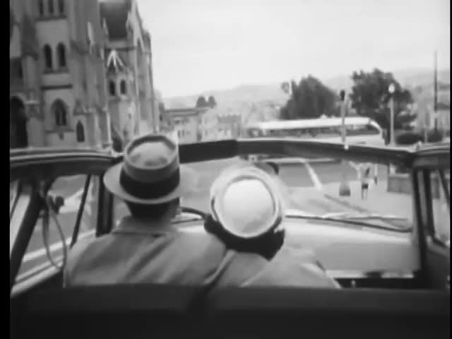 Motorcycle Police Chasing Couple In Car San Francisco California Stock Footage Video 4752563
