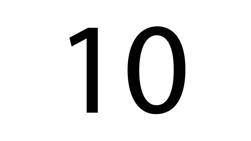 ten clipart black and white. countdown hd stock footage clip ten clipart black and white o